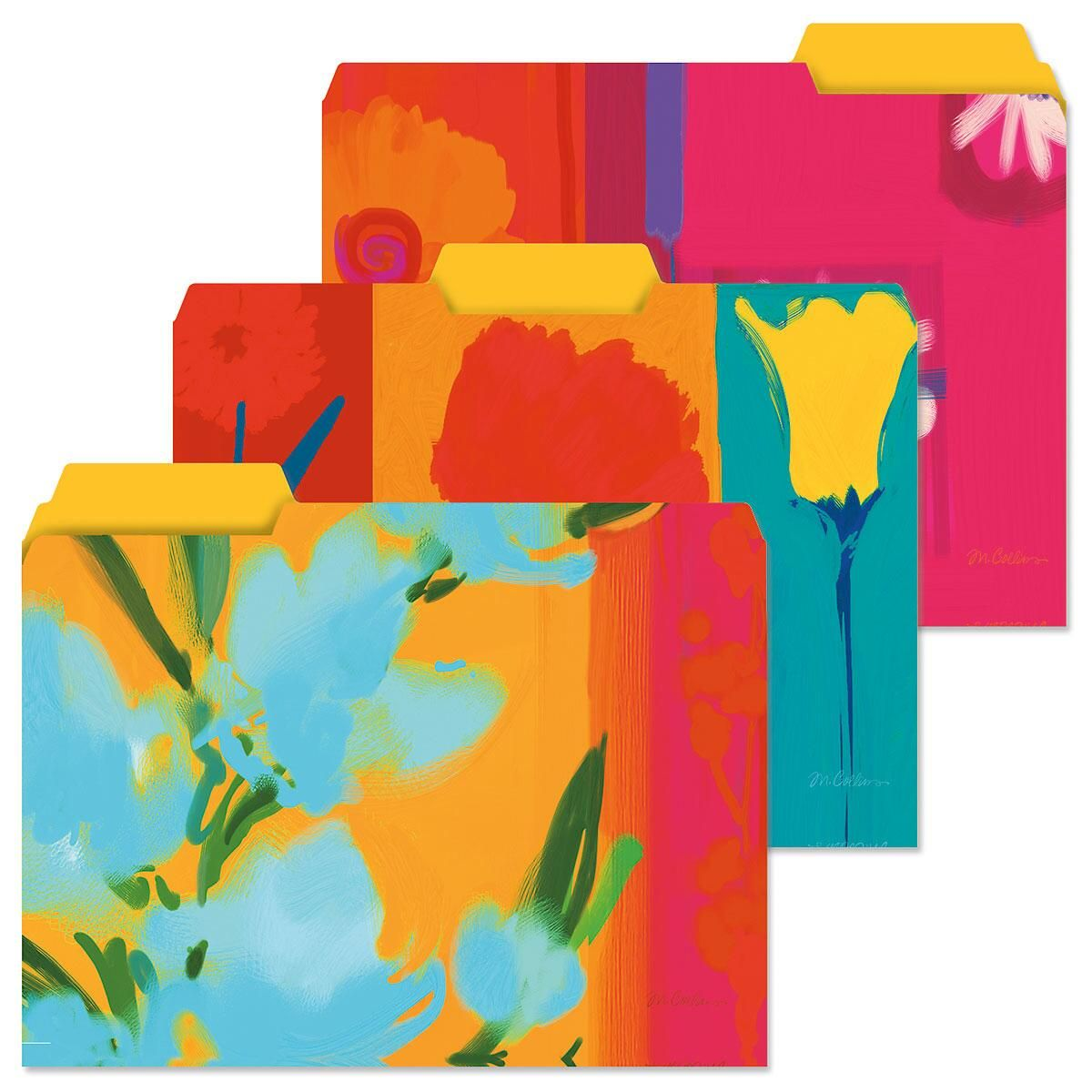 Floral Brights File Folders  (3 Designs)