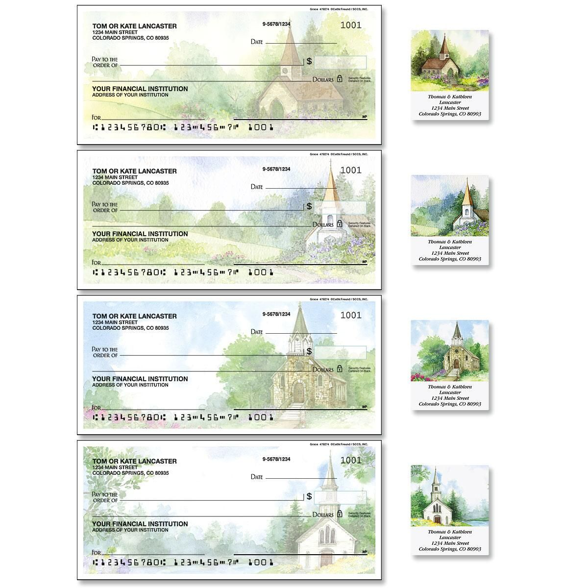 Grace Single Checks with Matching Address Labels