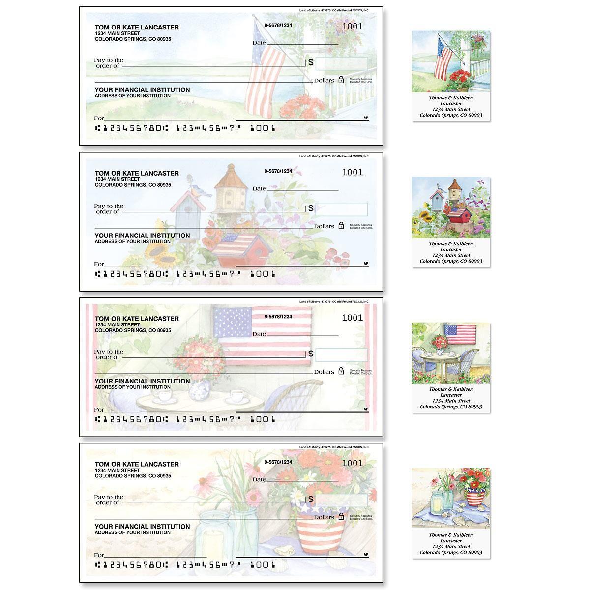 Land of Liberty Duplicate Checks with Matching Address Labels