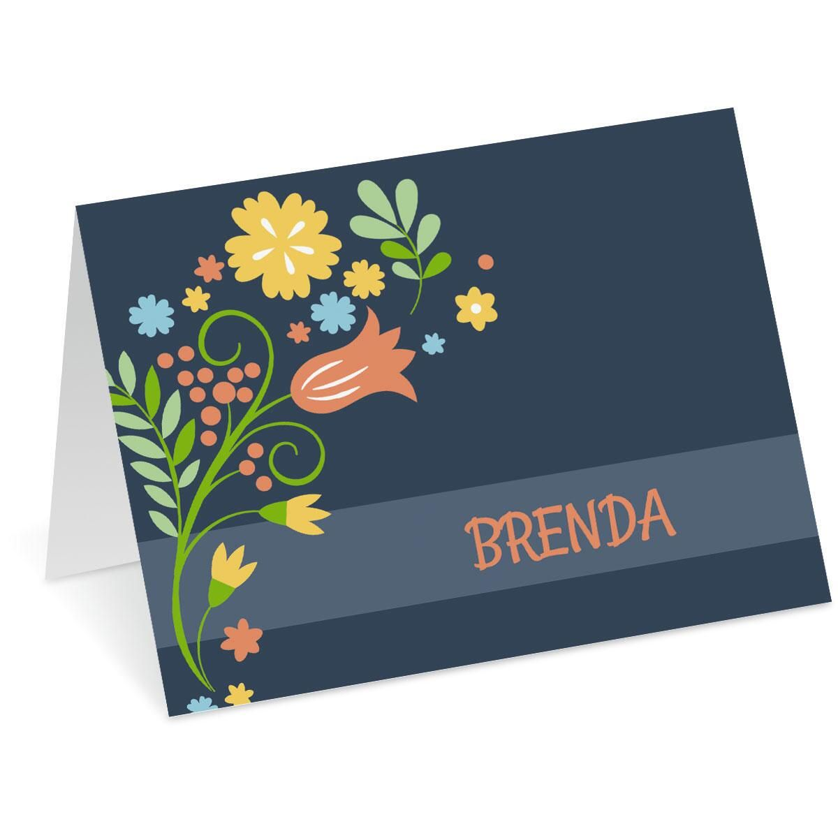 Simply Blooming Personalized Note Cards