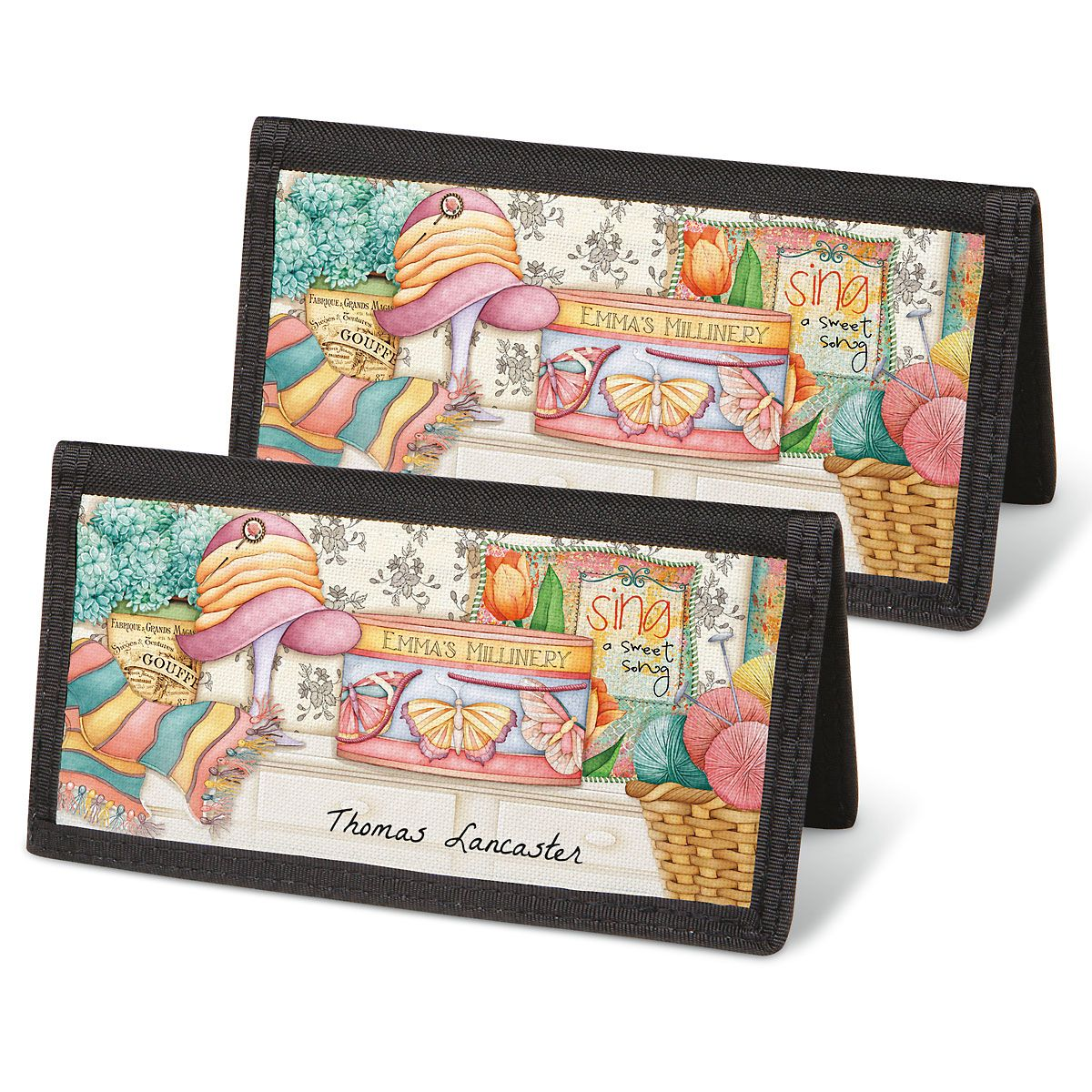 Cozy Comforts Personal Checkbook Covers