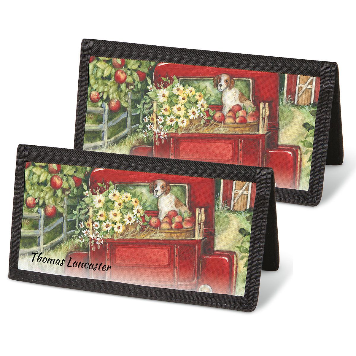 Red Truck Personal Checkbook Covers