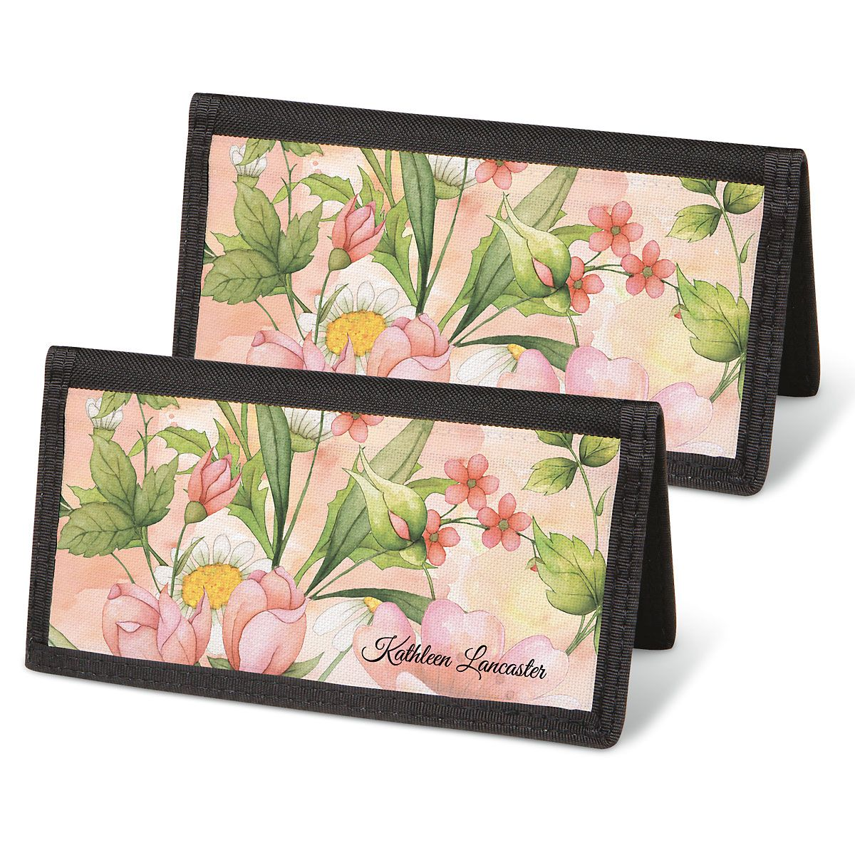 Watercolor Garden Personal Checkbook Covers