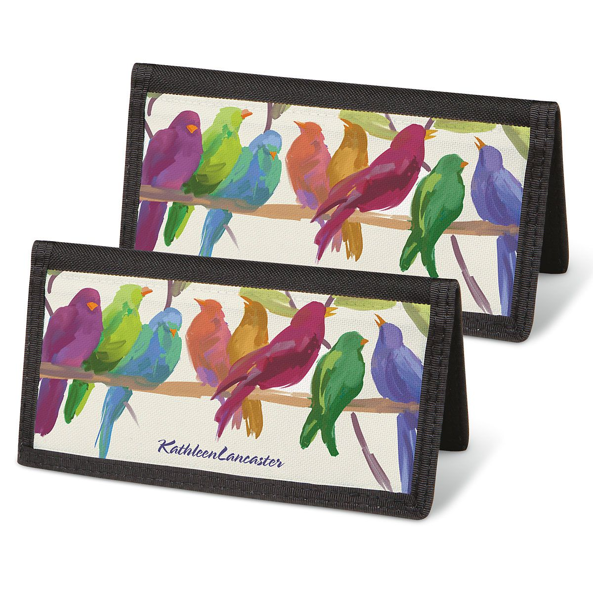 Flocked Together Personal Checkbook Covers