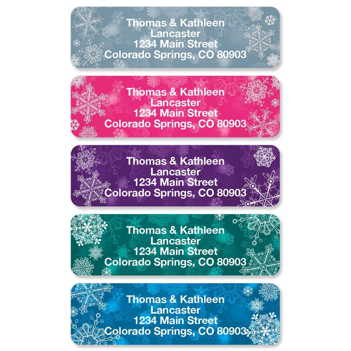 Snowflake Rolled Address Labels