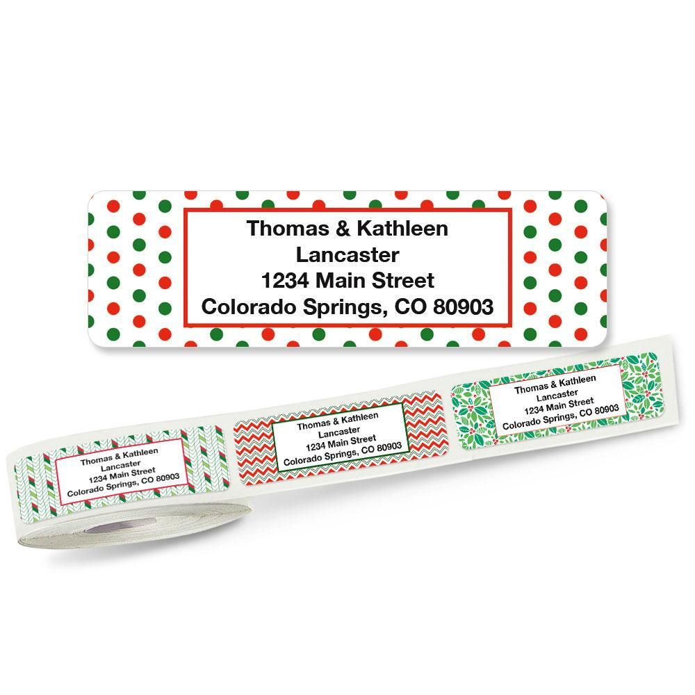 Festive Rolled Address Labels