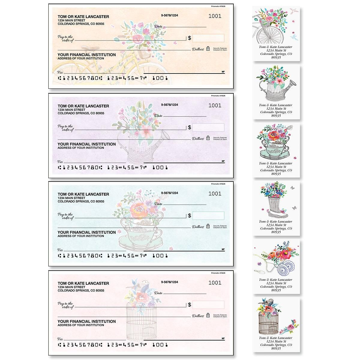 Prismatic Single Checks with Matching Address Labels