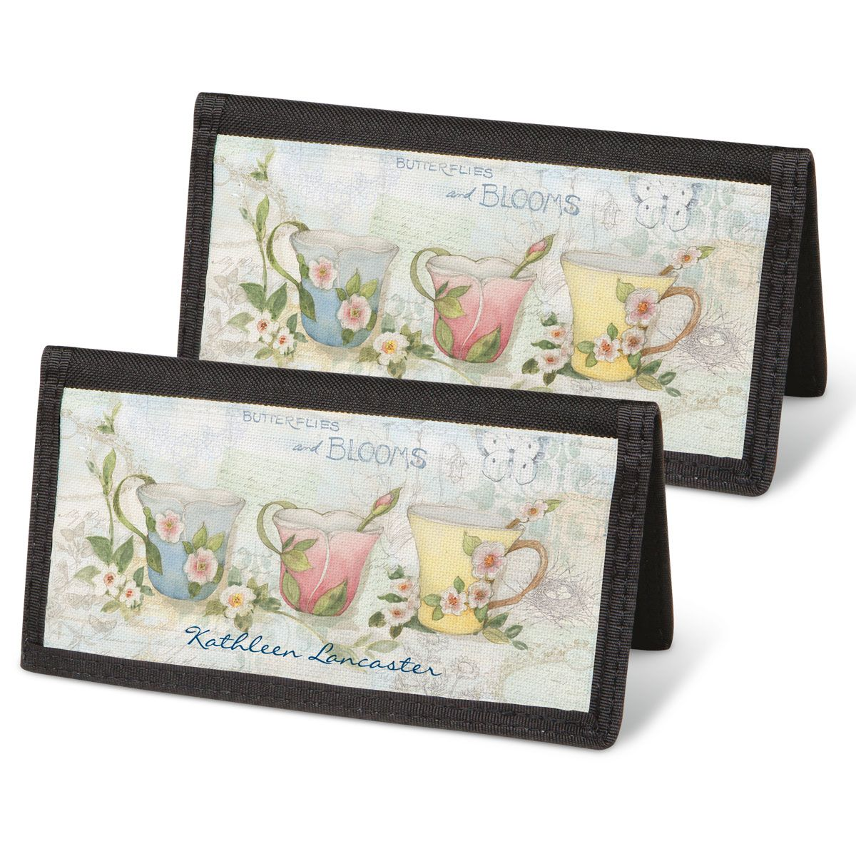 Teacups Personal Checkbook Covers