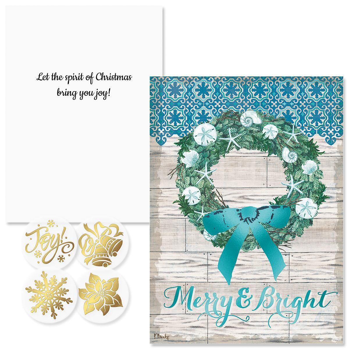 Coastal Christmas Foil Christmas Cards- Nonpersonalized