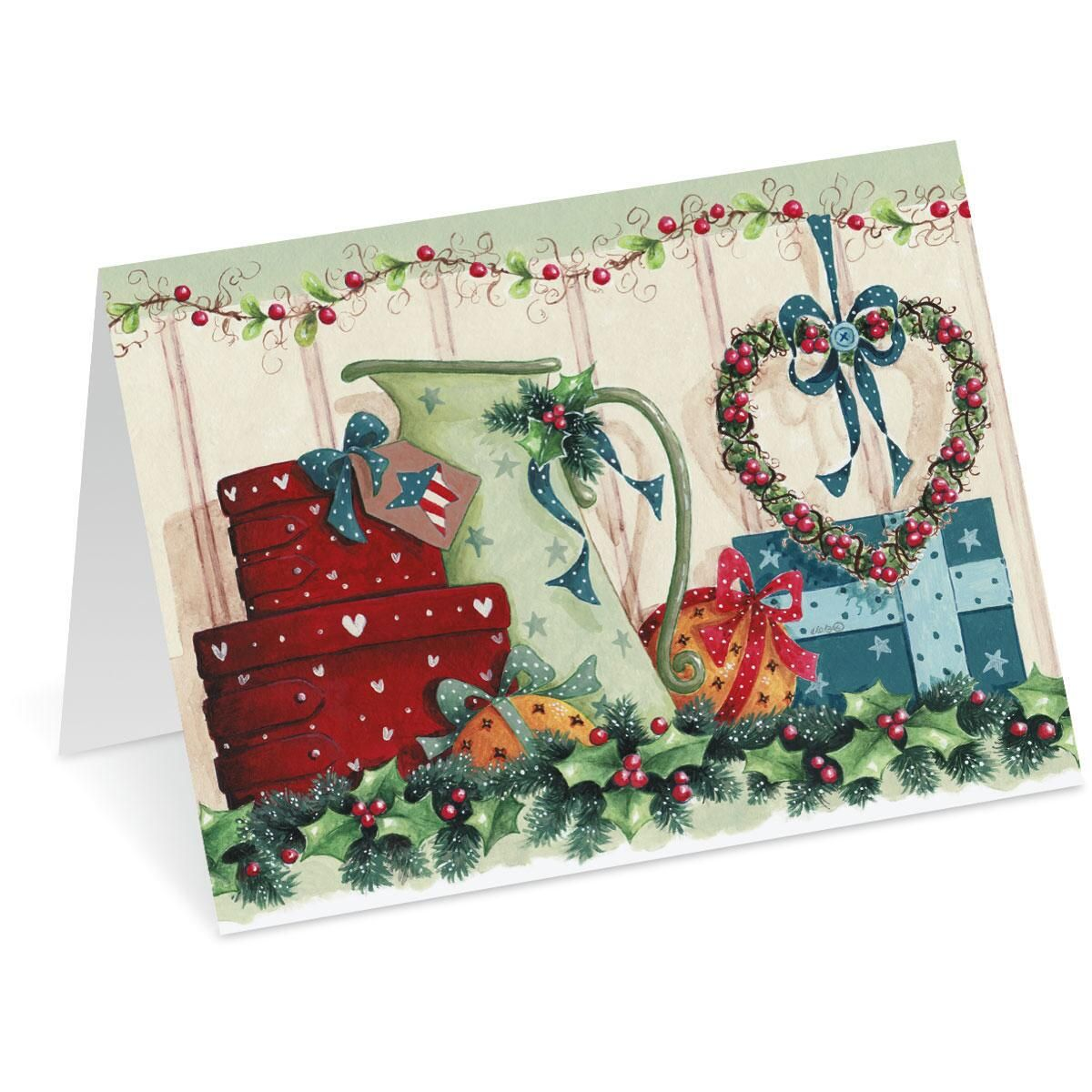 Country Cheer Note Card Size Christmas Cards