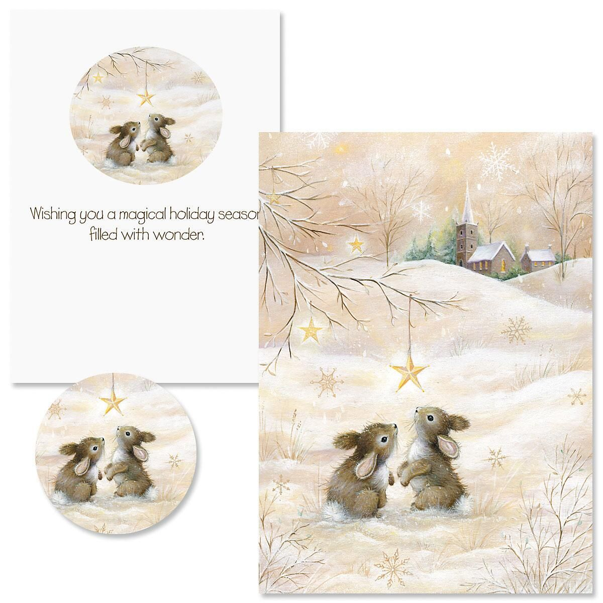 Snow Bunnies Christmas Cards - Nonpersonalized
