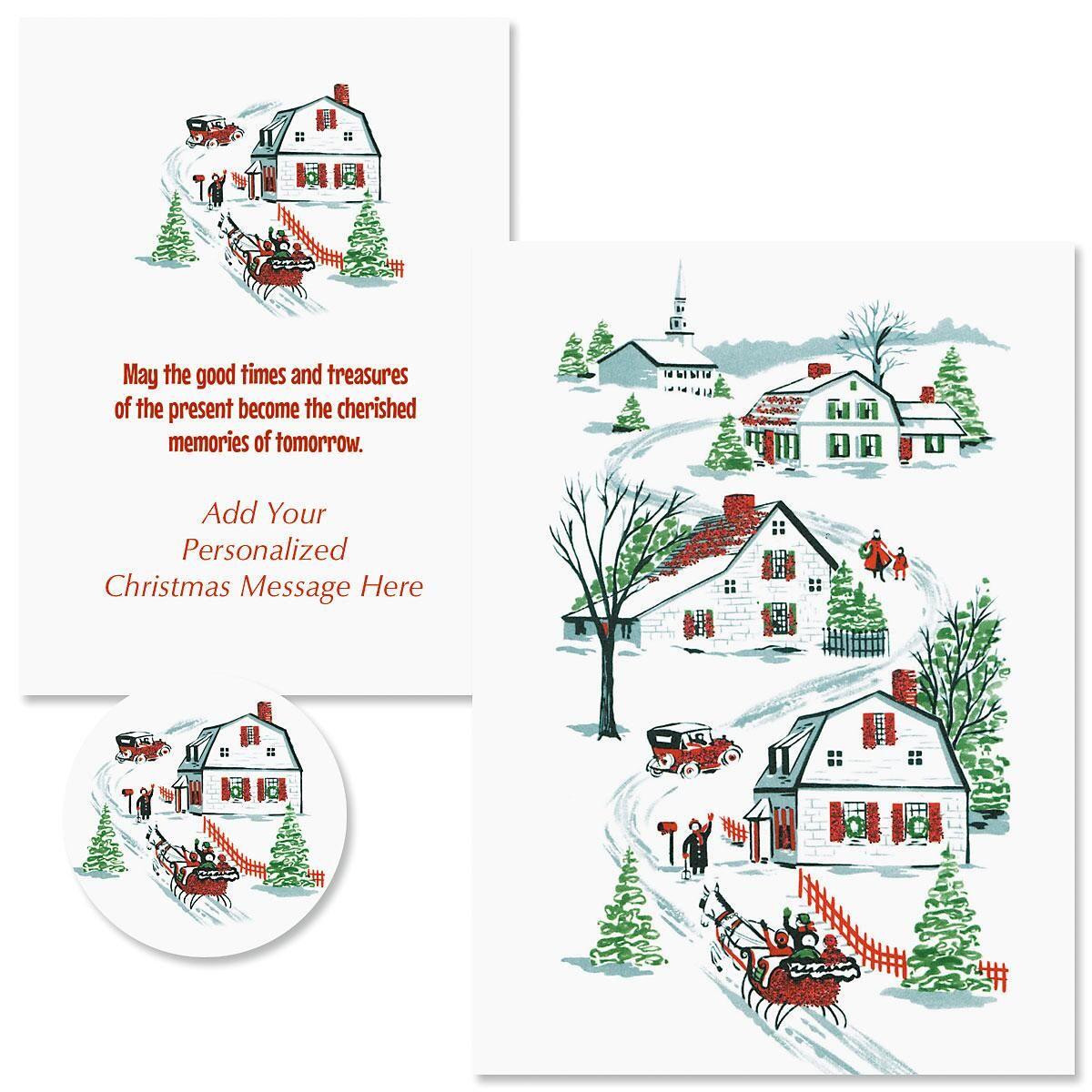 Nostalgic Memories Christmas Cards - Personalized