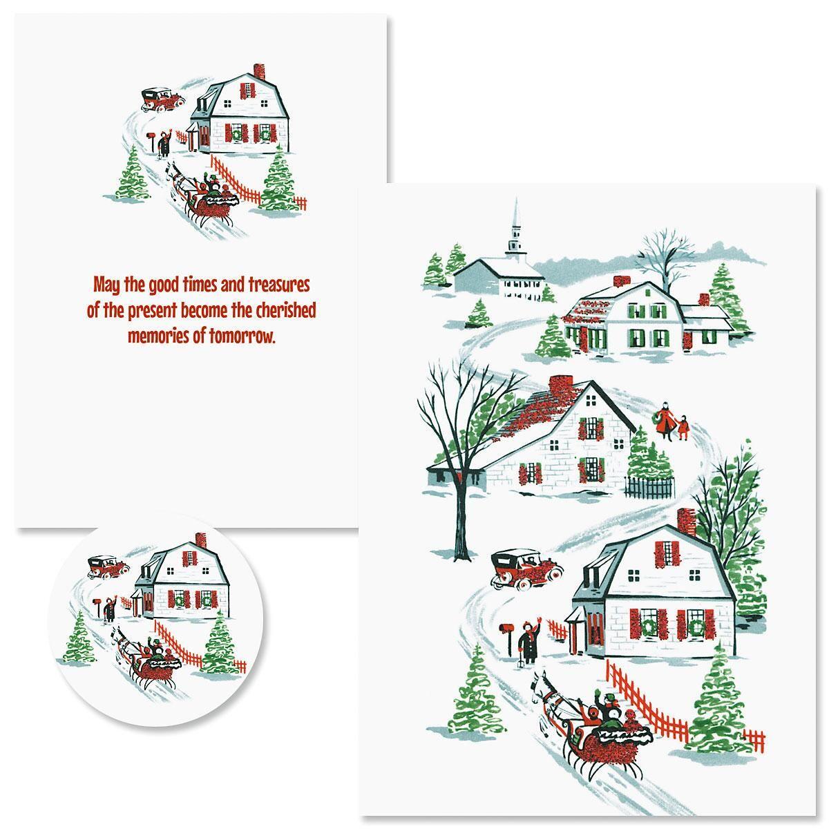 Nostalgic Memories Christmas Cards - Nonpersonalized