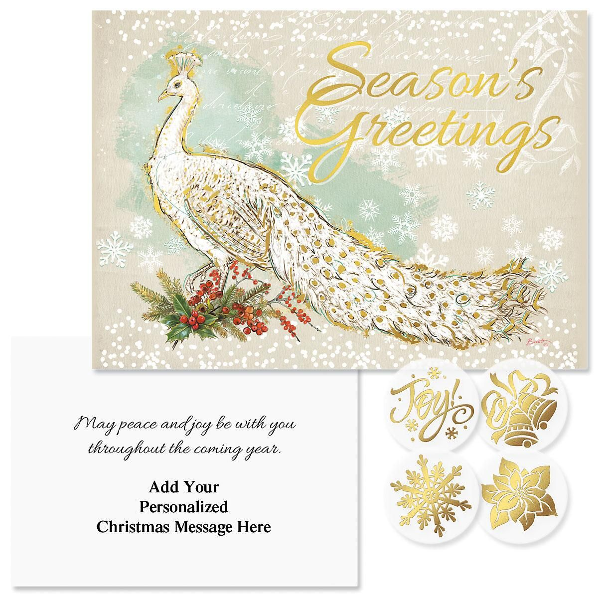 majestic foil christmas cards personalized - Foil Christmas Cards