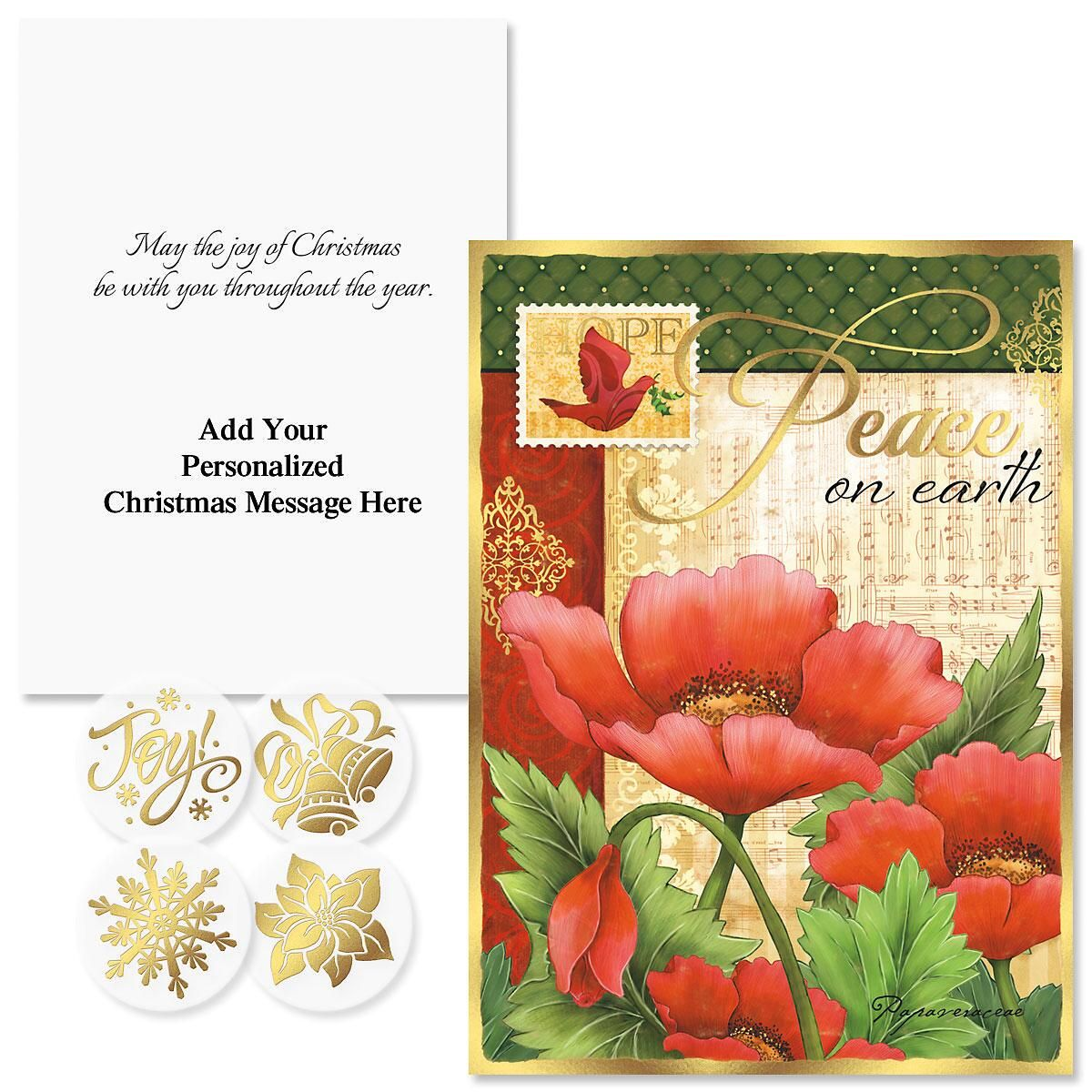 Peaceful Petals Foil Christmas Cards