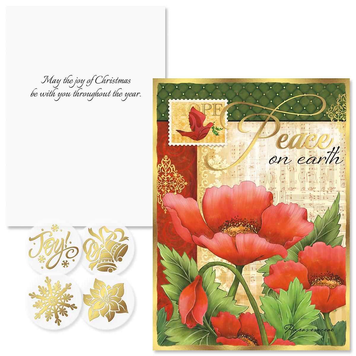Peaceful Petals Christmas Cards - Nonpersonalized