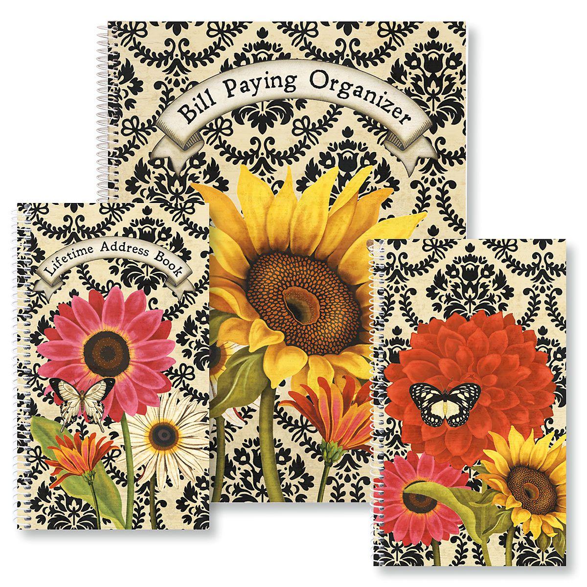 French Sunflower Organizer Books