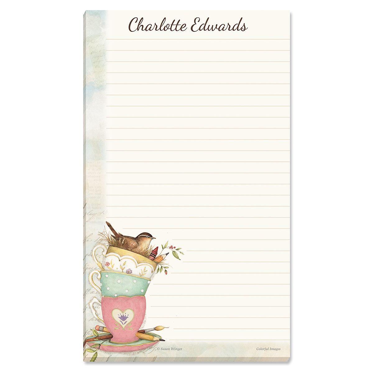 Teacup Notepad