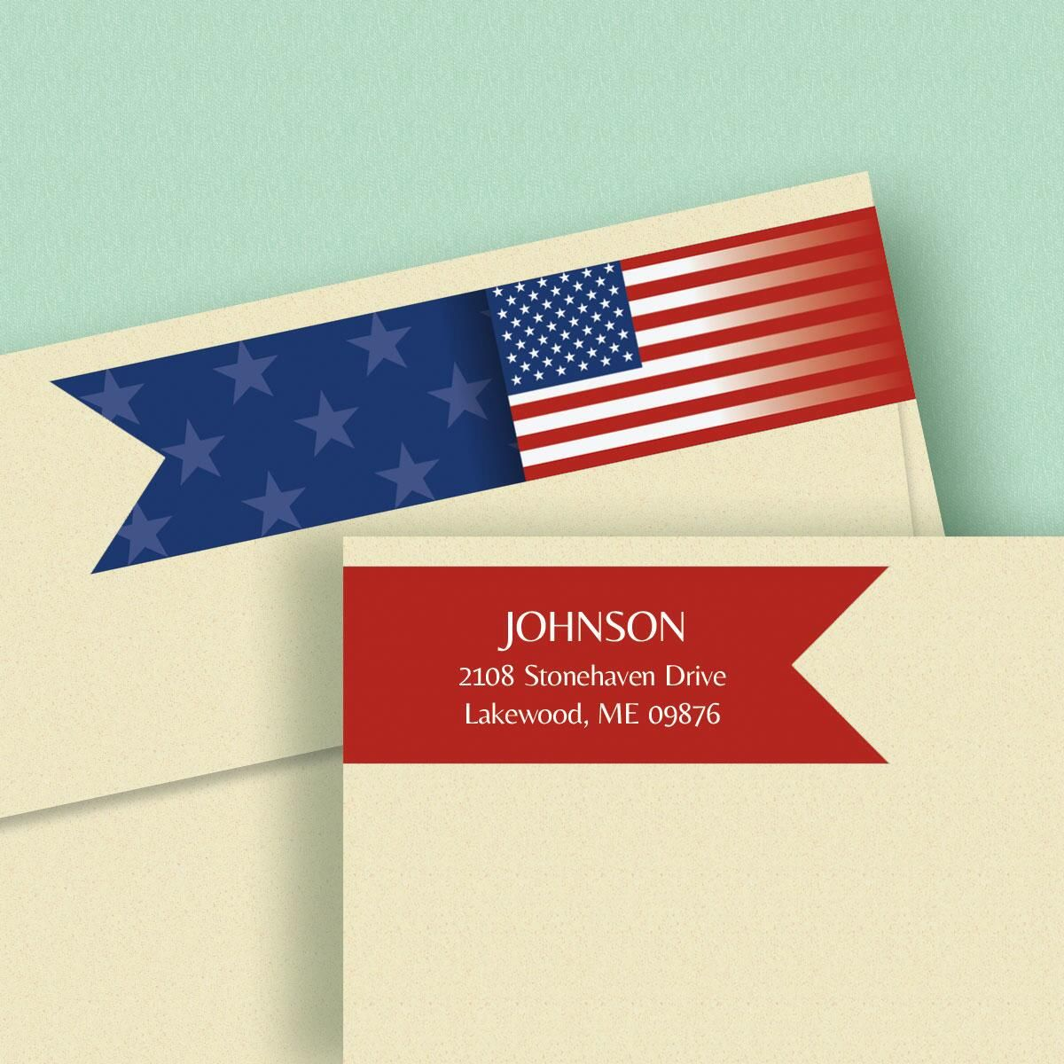 Flag Connect Wrap Diecut Address Labels