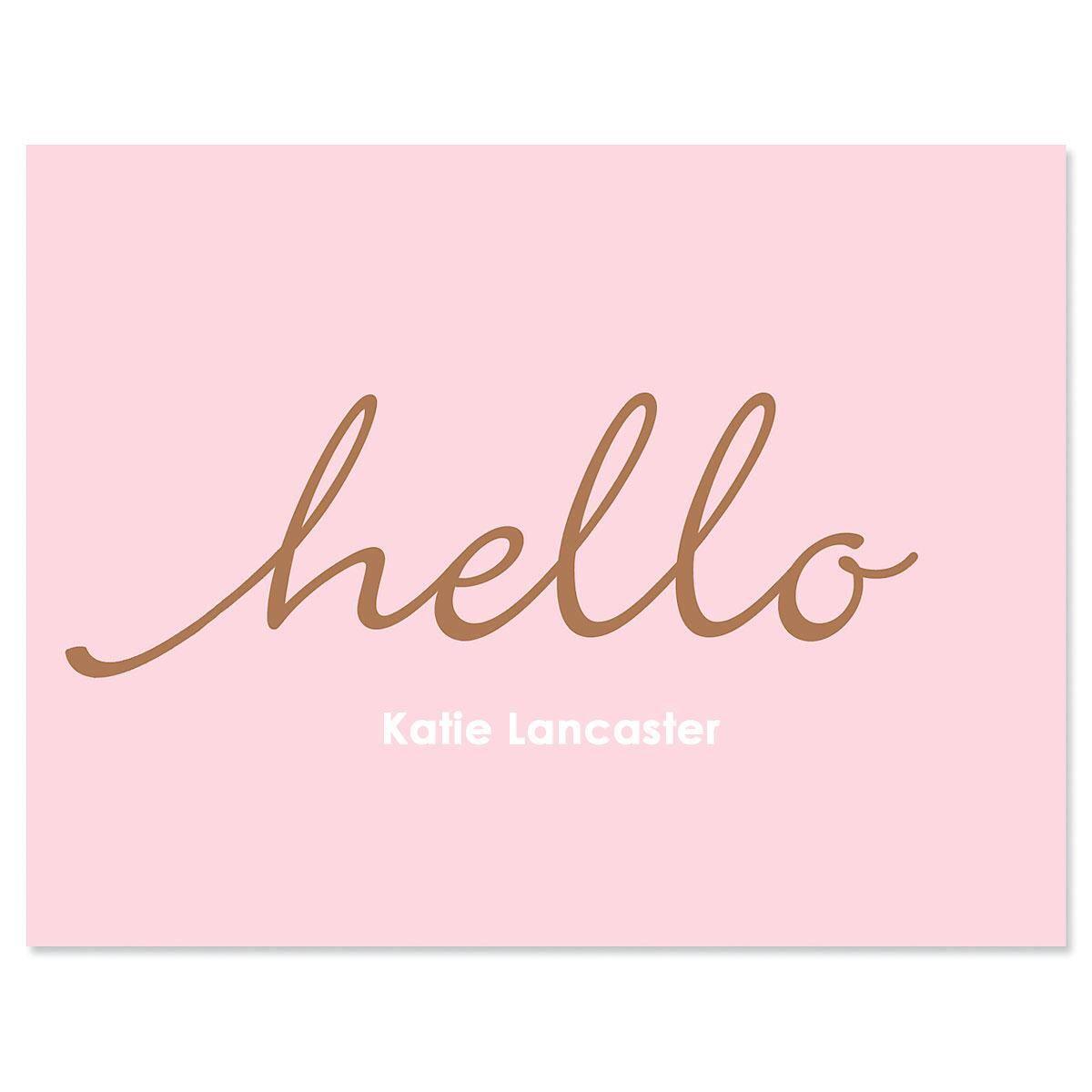 Hello Custom Note Cards