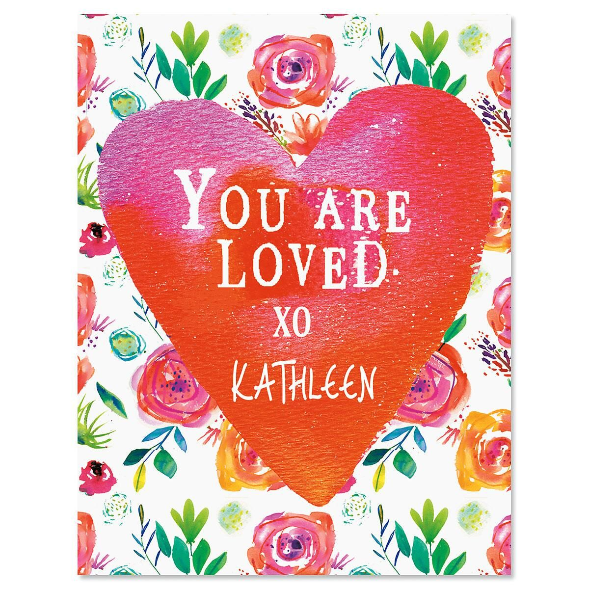 You Are Loved Personalized Note Cards