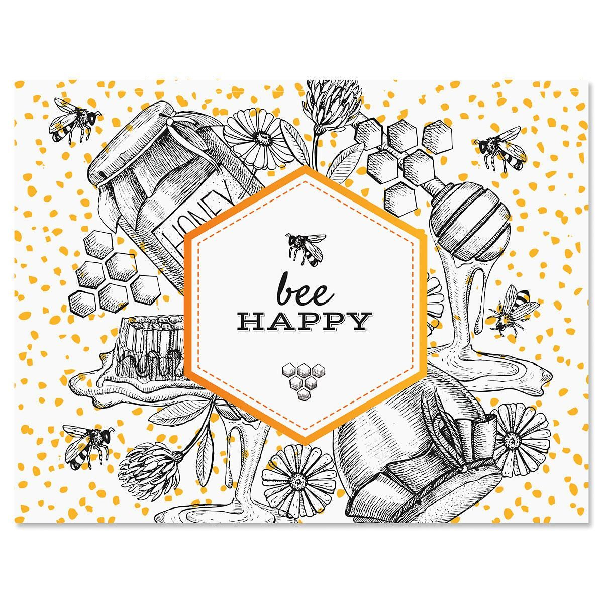 Oh Sweet Honey Personalized Note Cards