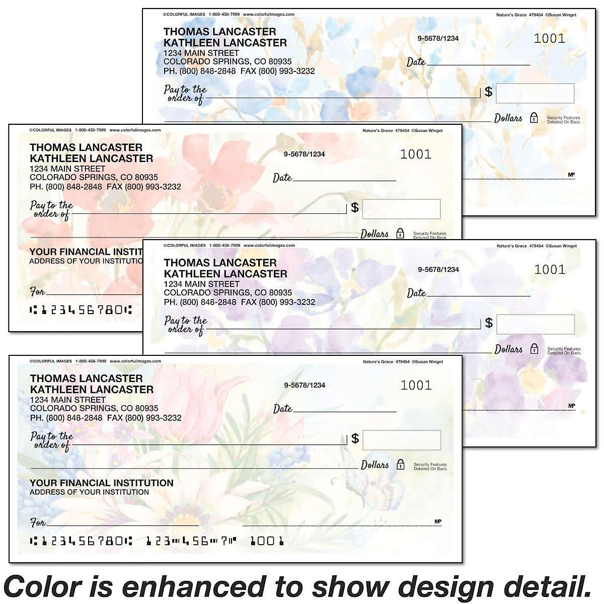 Natures Grace Personal Checks
