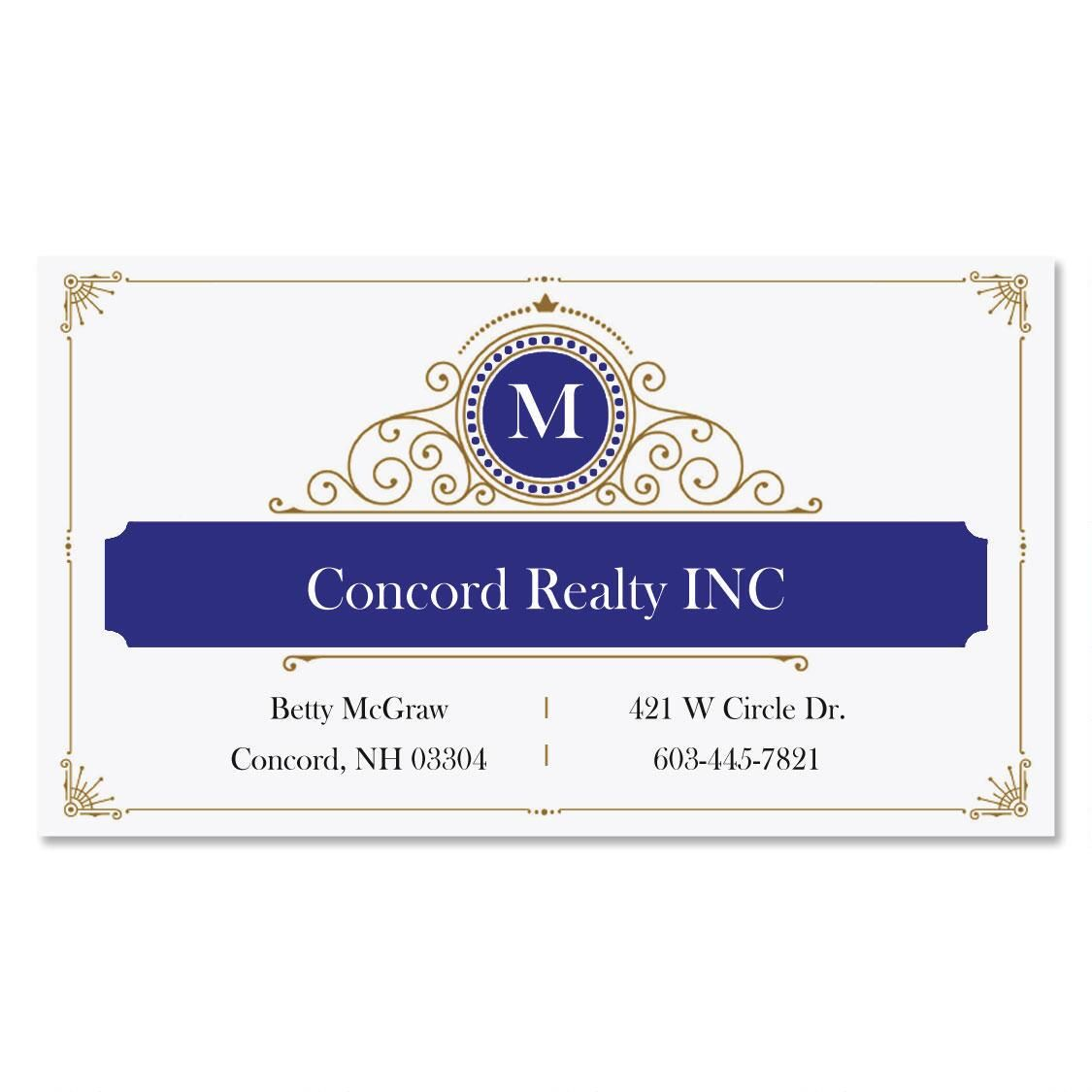 Initial Branding Standard Business Cards