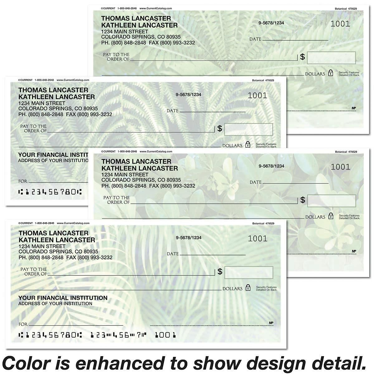 Botanical Personal Checks