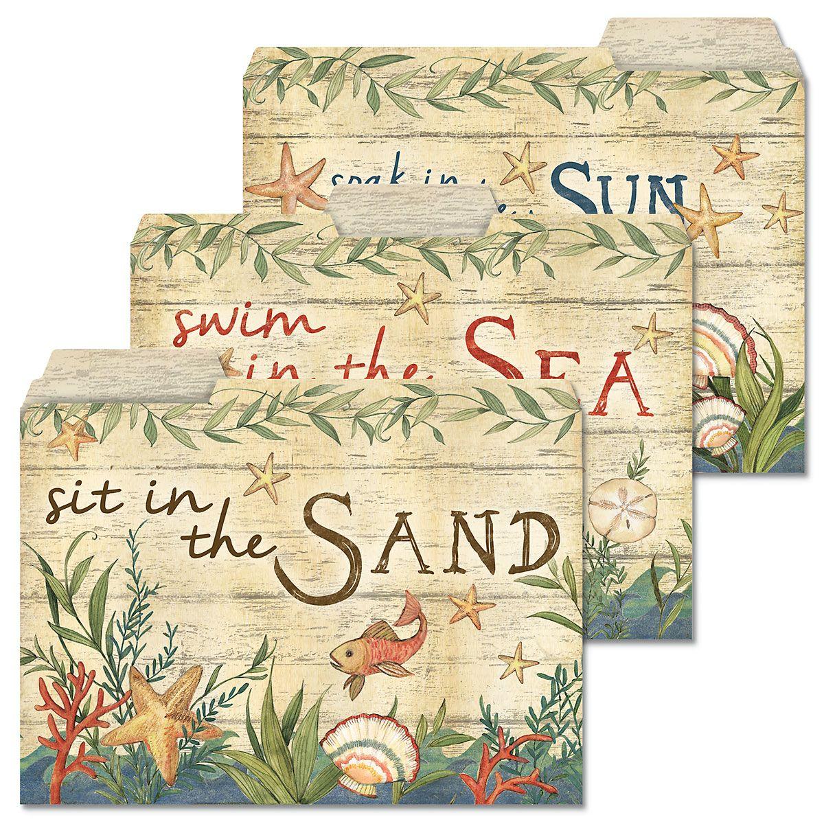 Seas the Day File Folders (3 Designs)