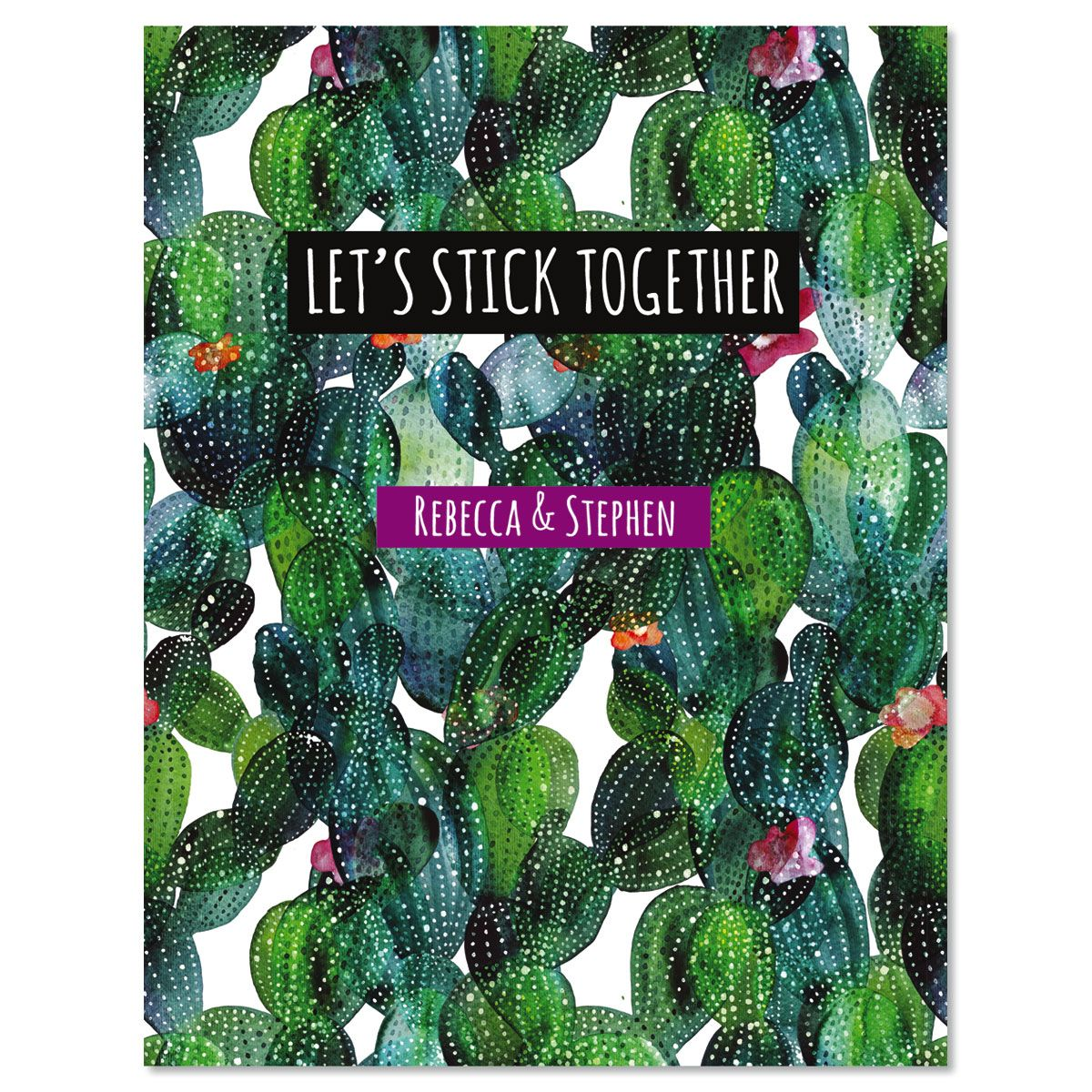 Let's Stick Together Custom Note Cards