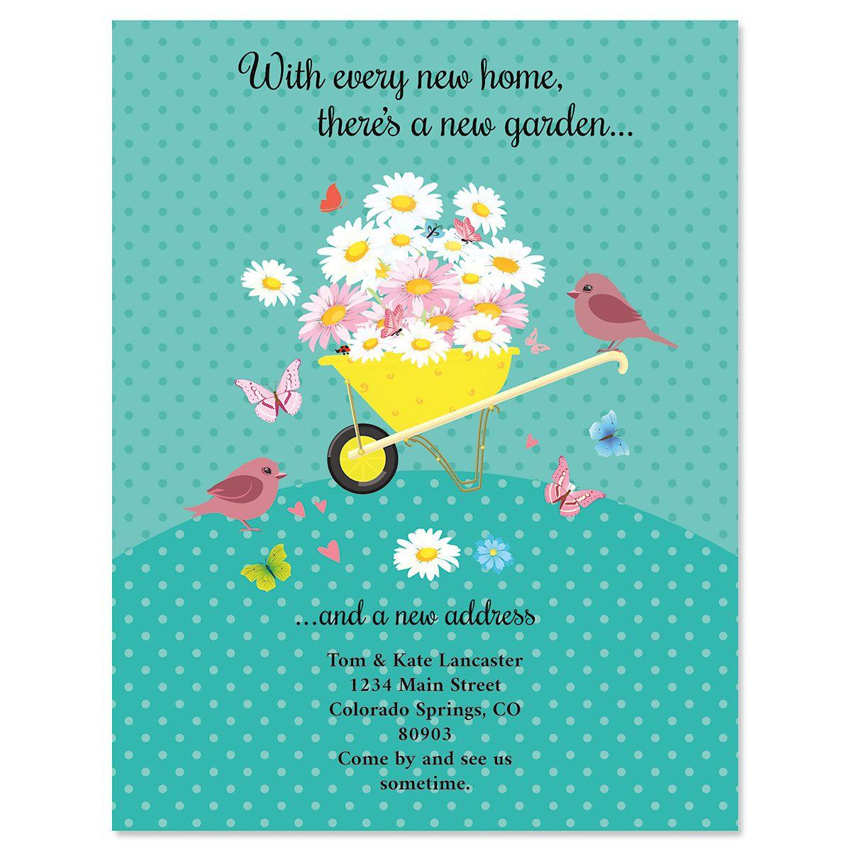 Home & Garden New Address Postcards