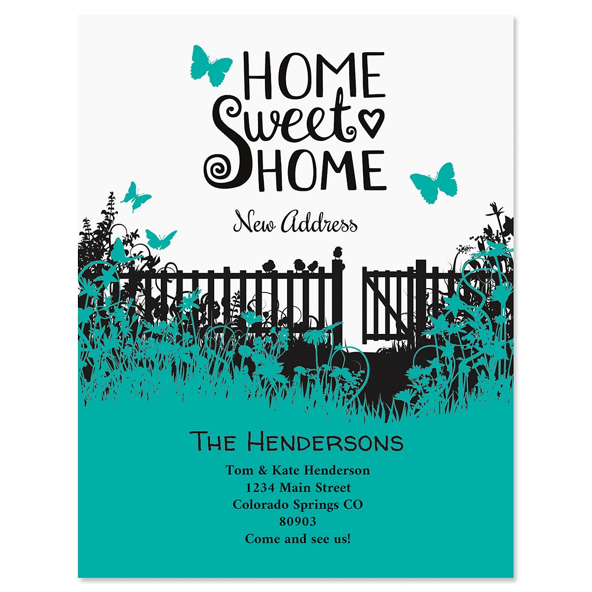 Sweet Home New Address Postcards