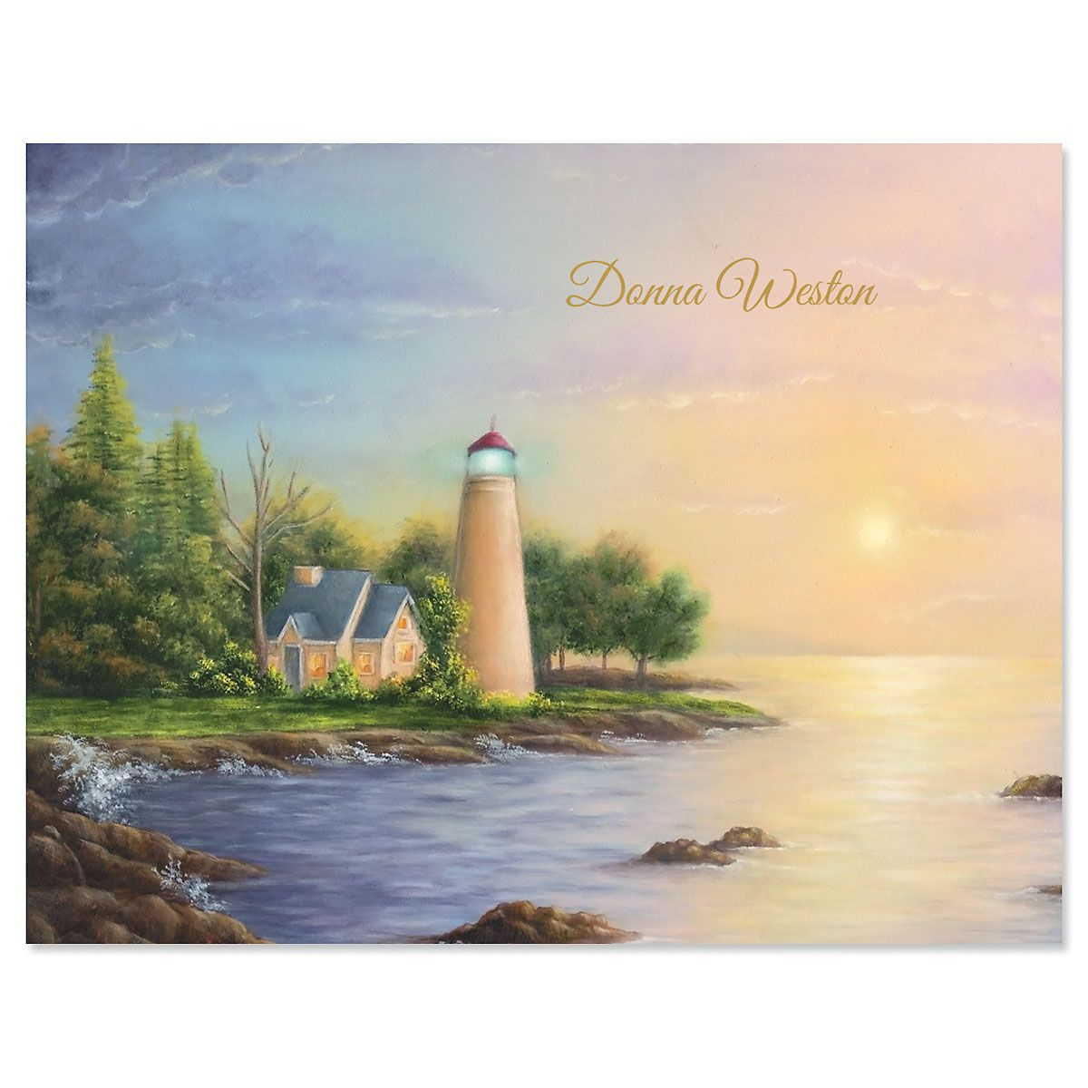 Safe Harbor Personalized Note Cards