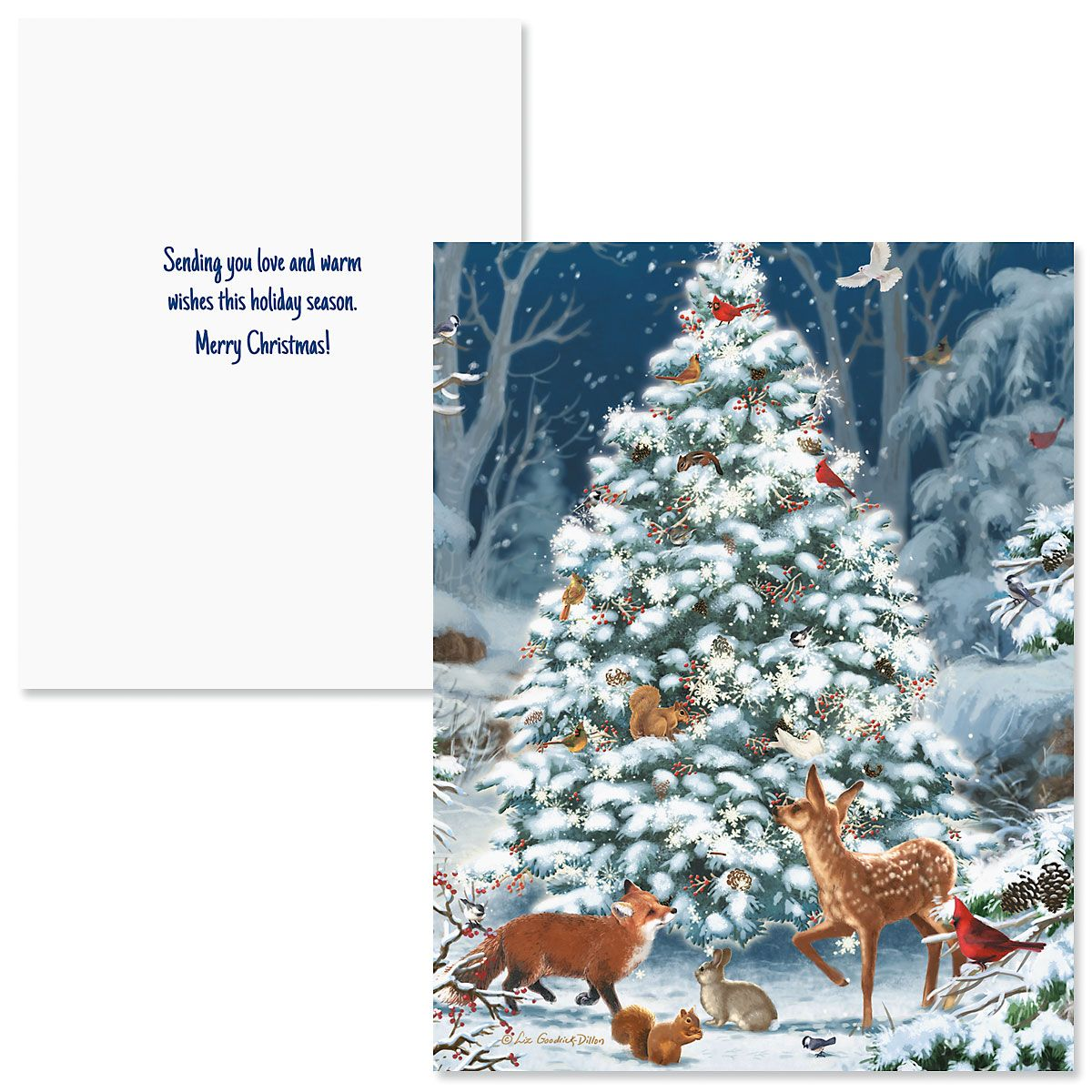 Nature's Celebration Note Card Size Christmas Cards