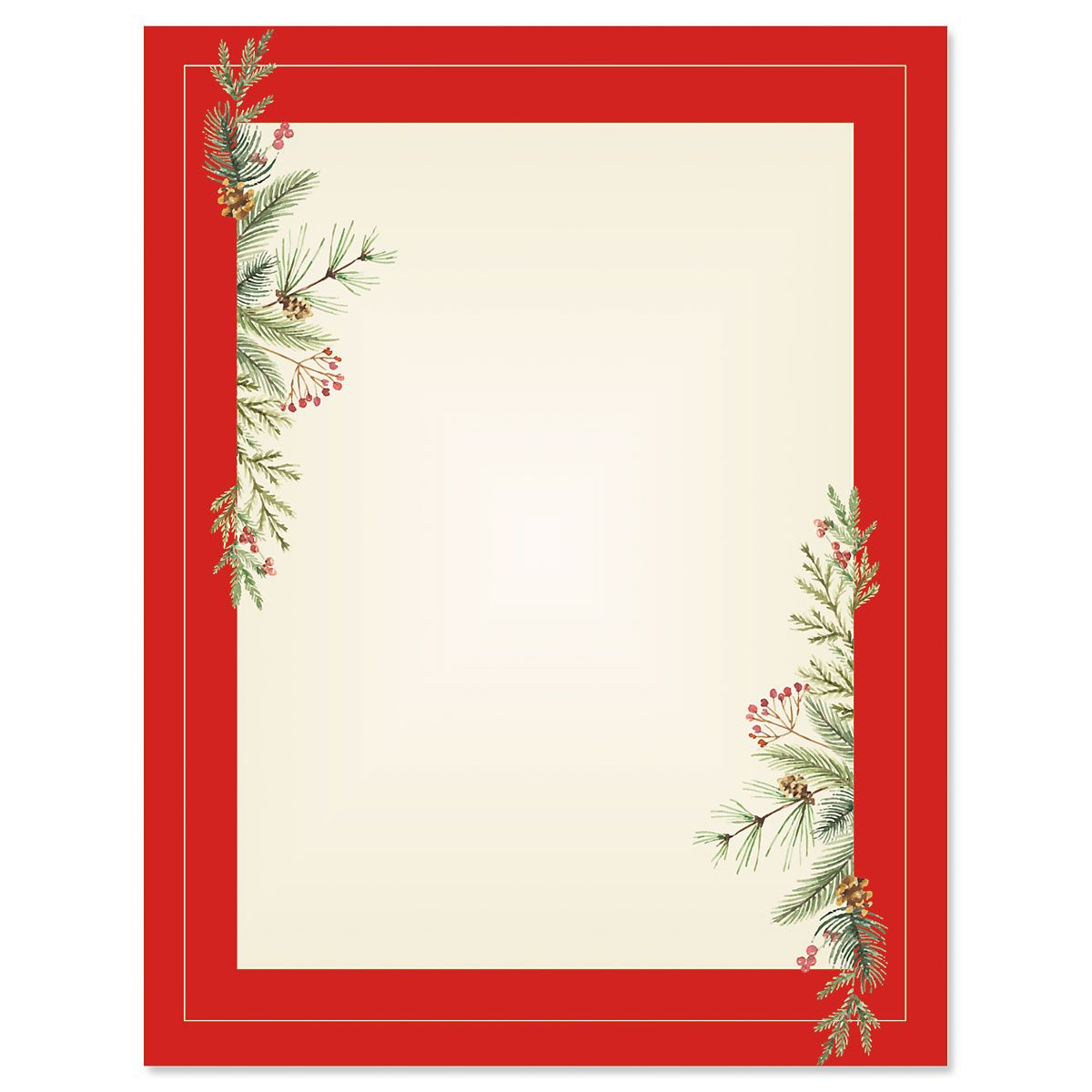 Delicate Filigree Christmas Letter Papers