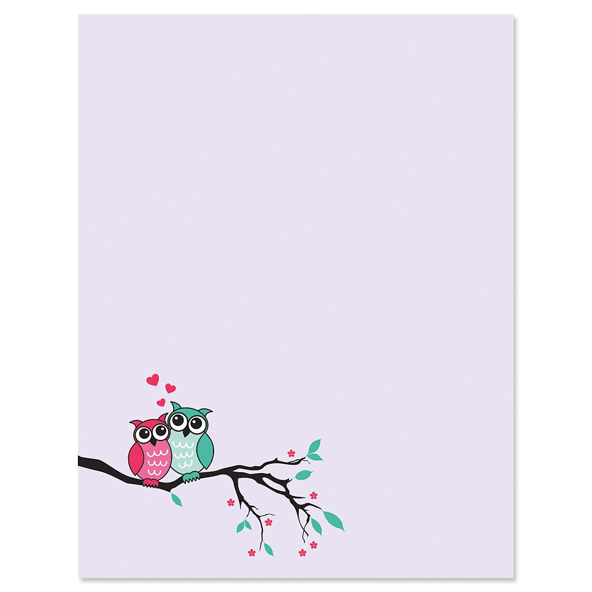 Owls in Love Valentine's Day Letter Papers