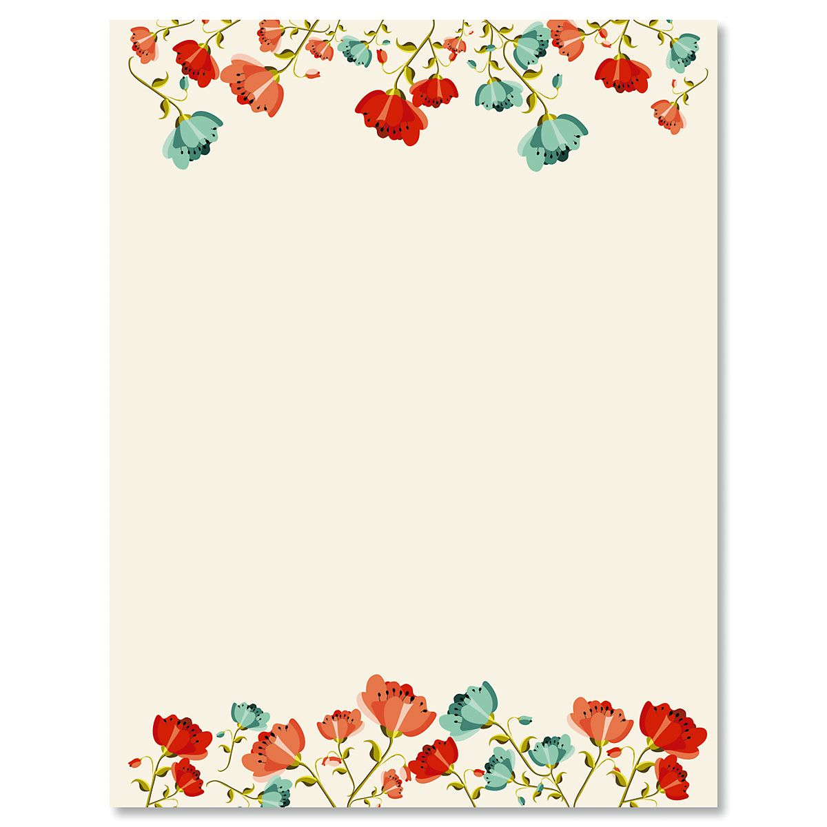 Poppies Letter Papers