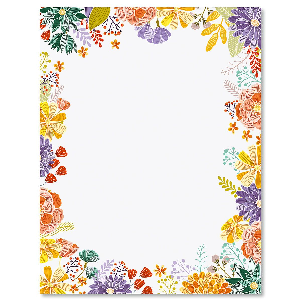 Wildflower Frame Letter Papers