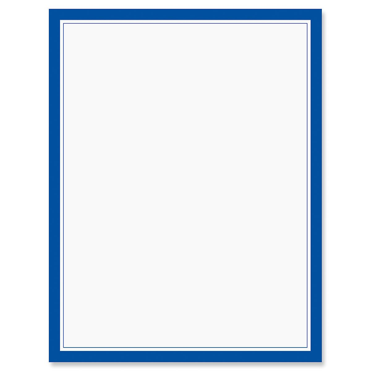 Blue Frame Letter Papers