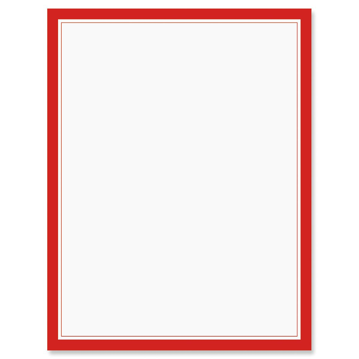 Red Frame Letter Papers