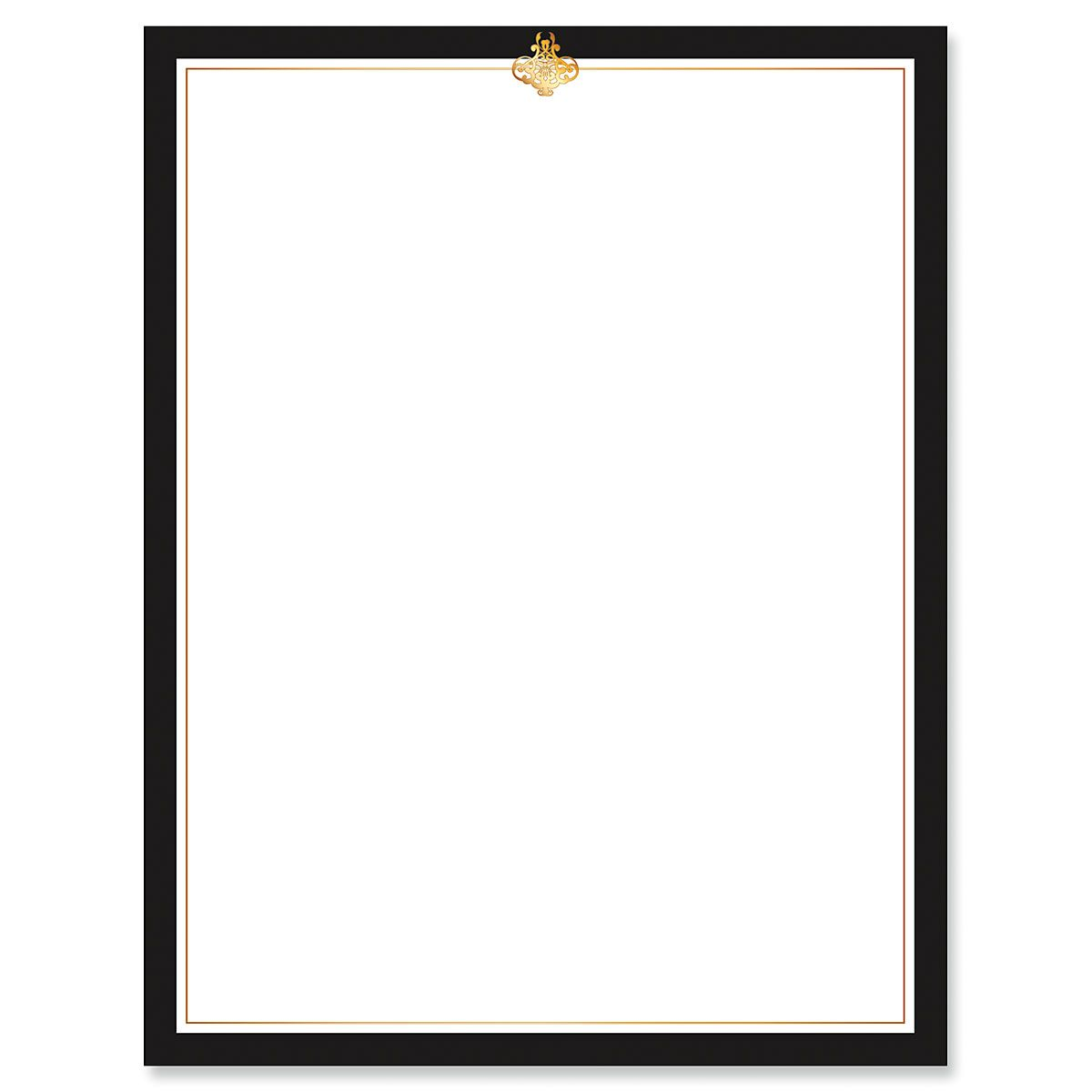 Calligraphy Frame Black and Gold Letter Papers