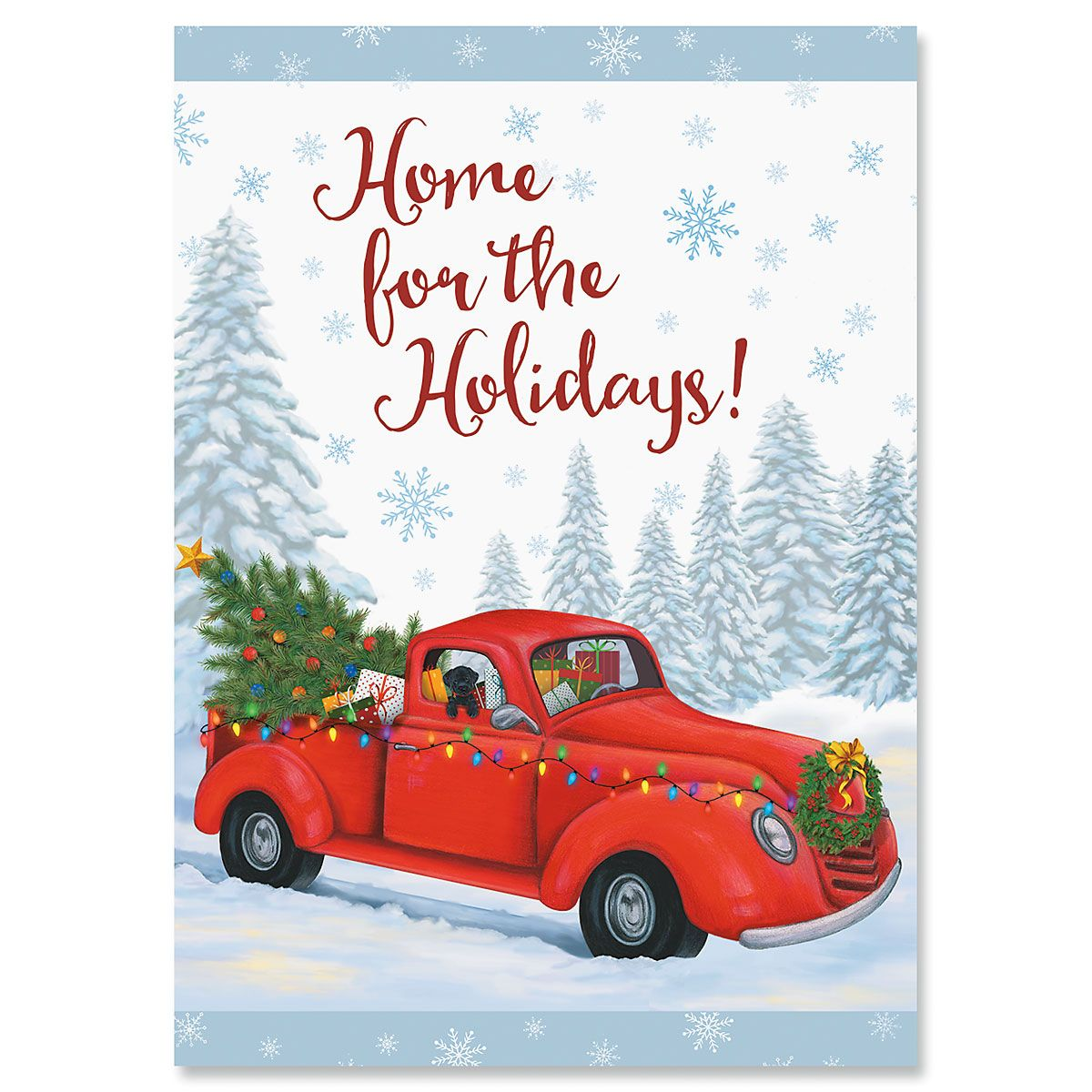 Home For The Holidays Truck Christmas Cards - Nonpersonalized