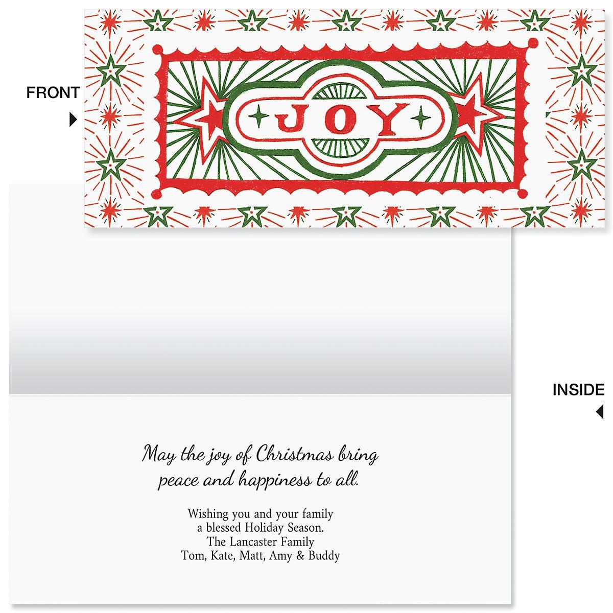 Joyous Christmas Slimline Holiday Cards
