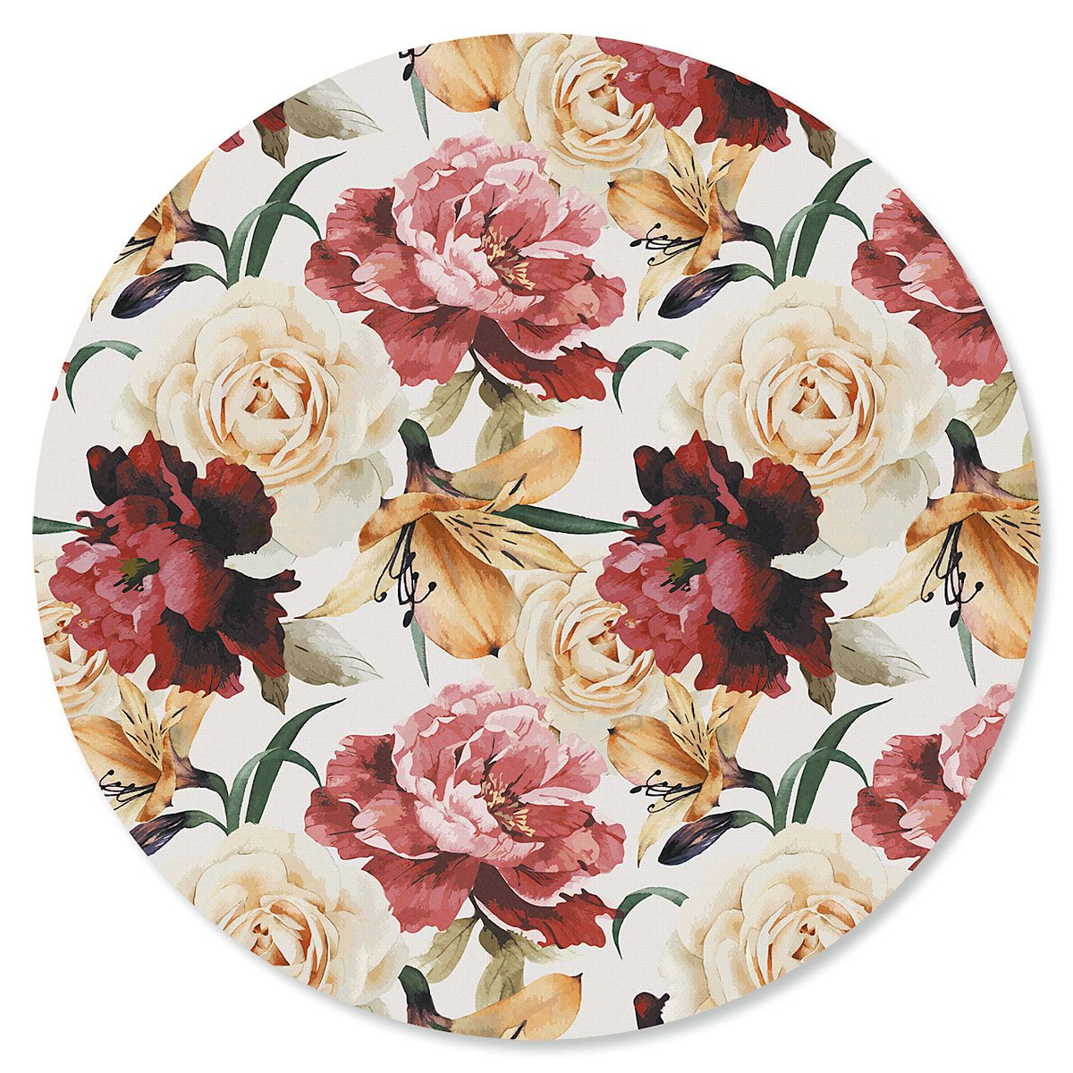 Watercolor Bouquet Round Mouse Pad