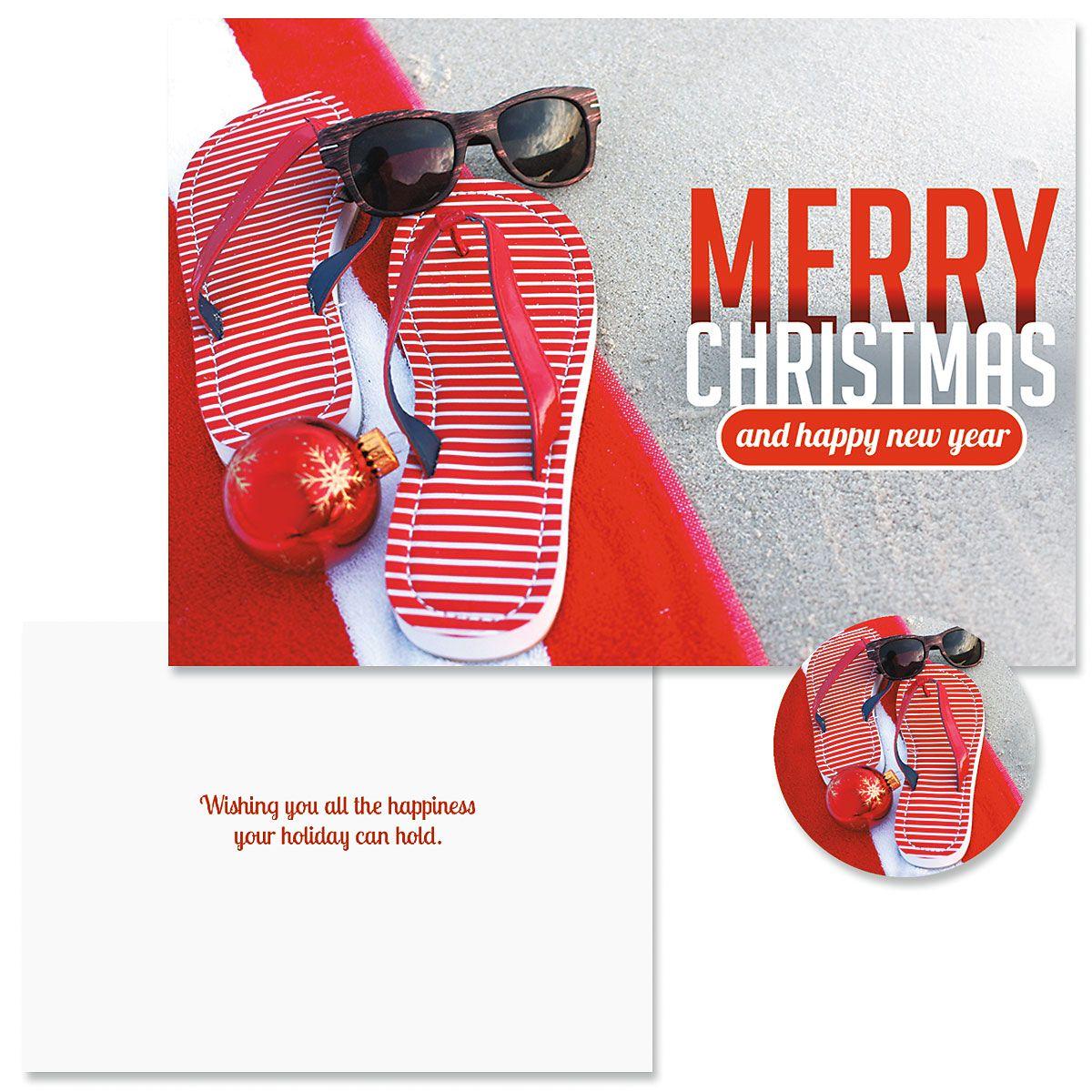 Sunny Holiday Christmas Cards