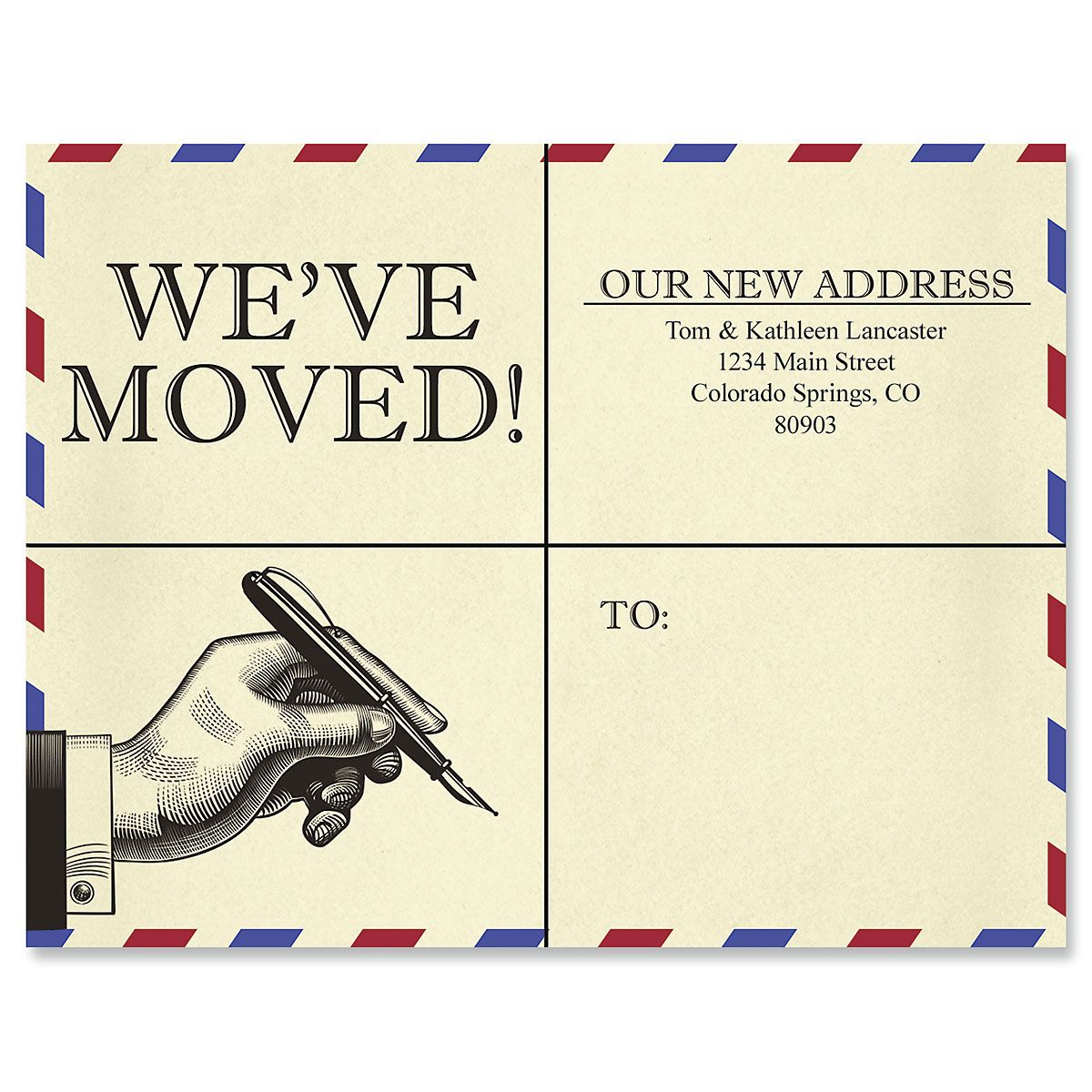 We've Moved Address Retro Postcards