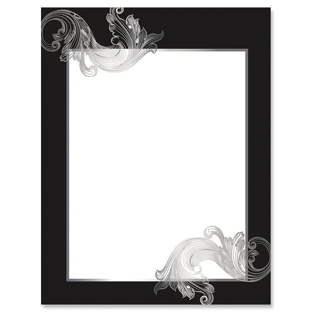 Silver Antique Frame Letter Papers