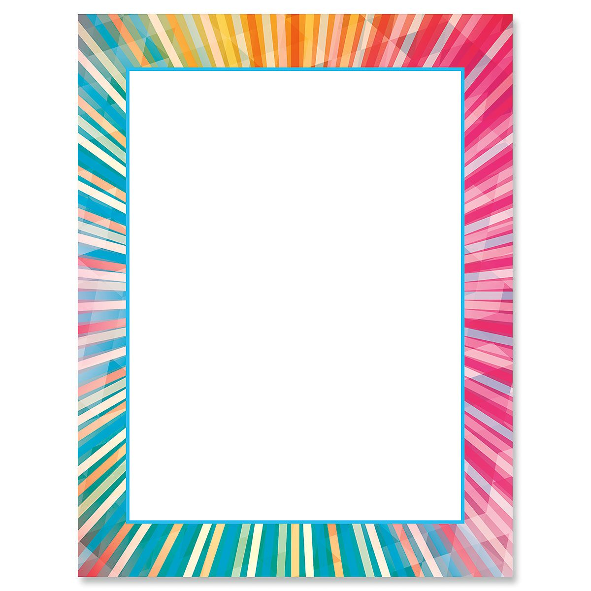 Rainbow Rays Letter Papers