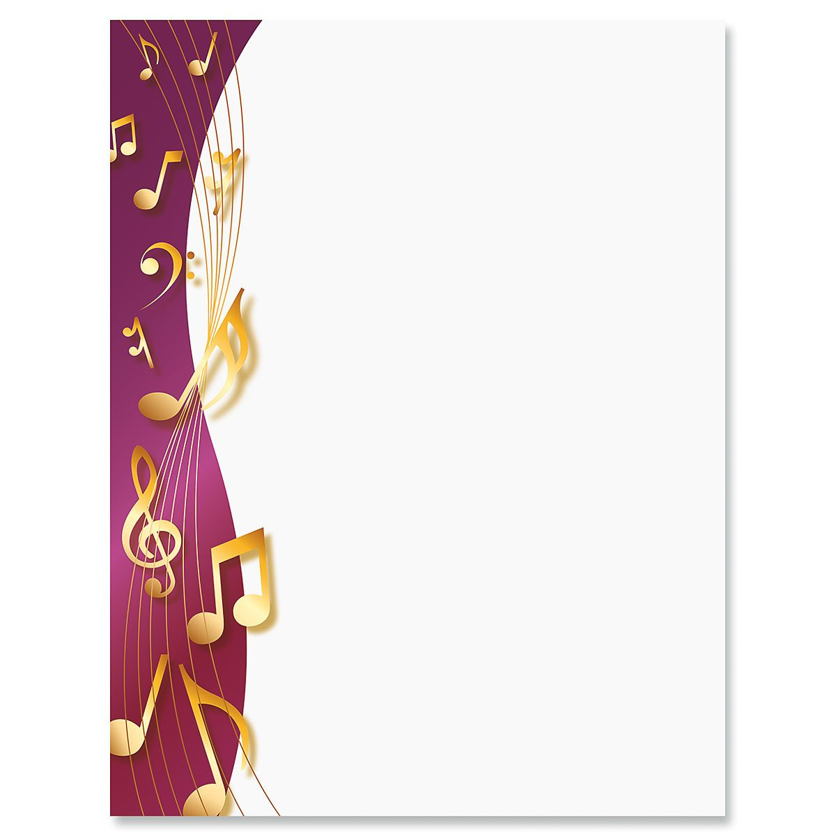Sheet Music Letter Papers